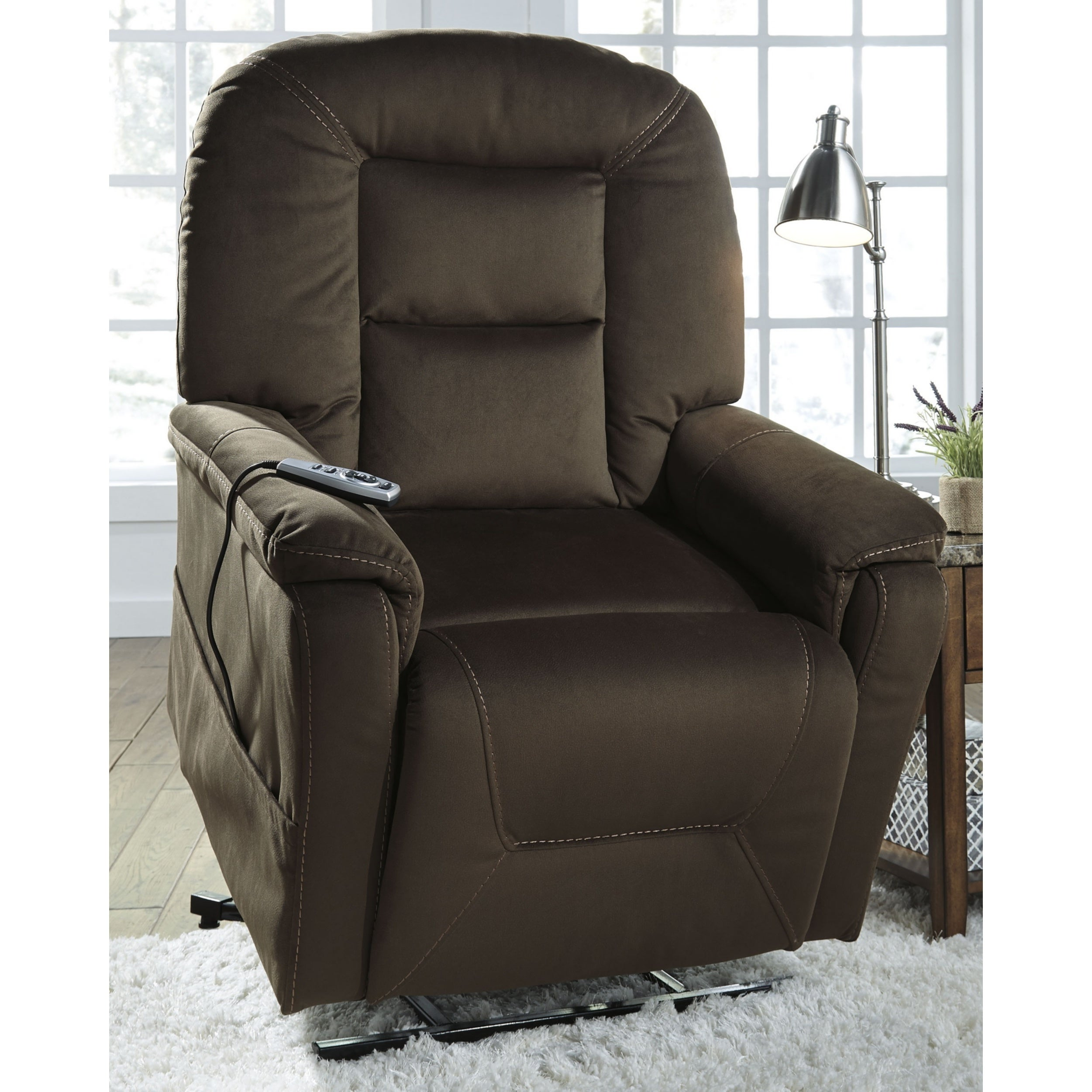 Enjoyable Signature Design By Ashley Samir Brown Power Lift Recliner Interior Design Ideas Inesswwsoteloinfo