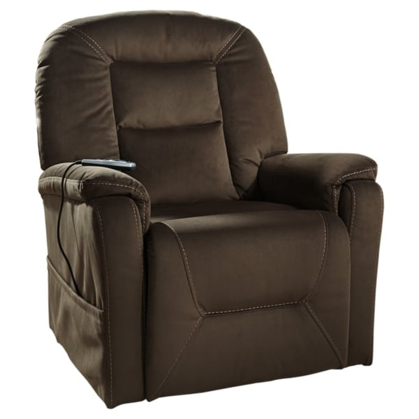 Signature Design by Ashley Samir Brown Power Lift Recliner. Opens flyout.
