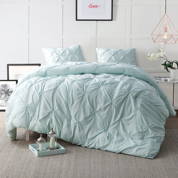 Shop Byb Hint Of Mint Pin Tuck Comforter Set Free