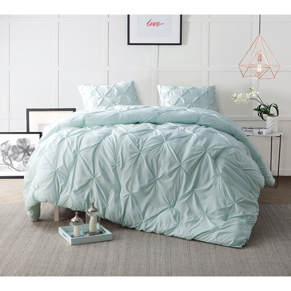BYB Hint of Mint Pin Tuck Comforter Set