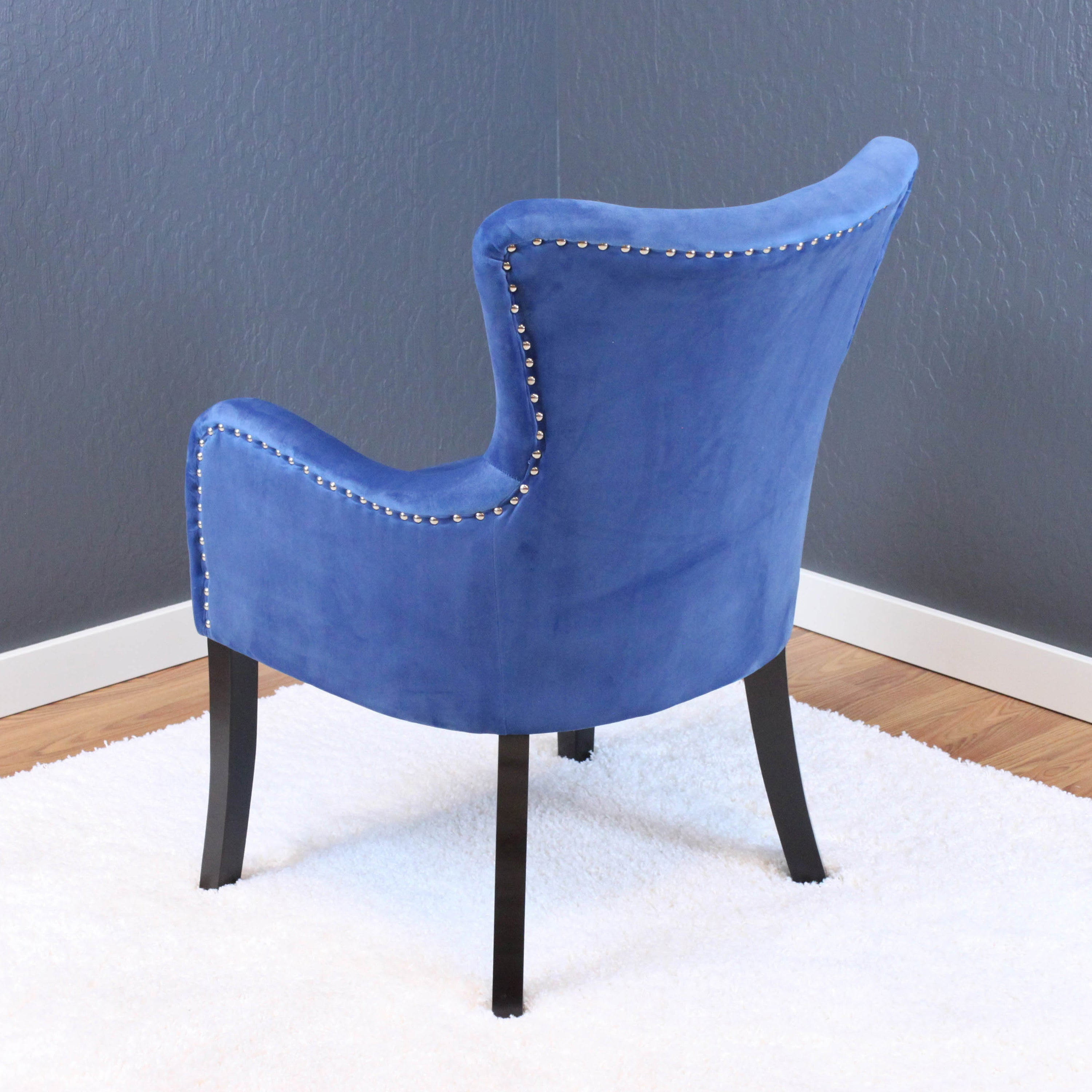 Shop Silver Orchid Flohr Velvet Arm Chair   On Sale   Free Shipping Today    Overstock   14578197