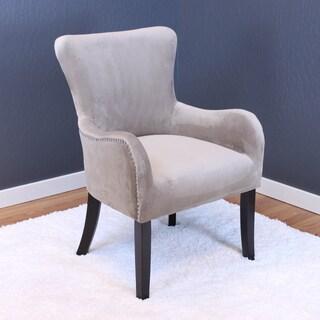 Aalten Velvet Arm Chair (Option: Taupe)