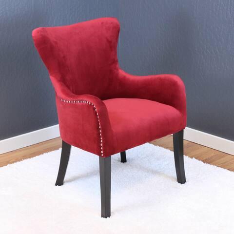 Silver Orchid Flohr Velvet Arm Chair