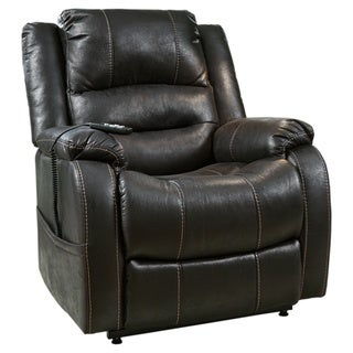 Signature Design by Ashley Yandel Black Power Lift Recliner