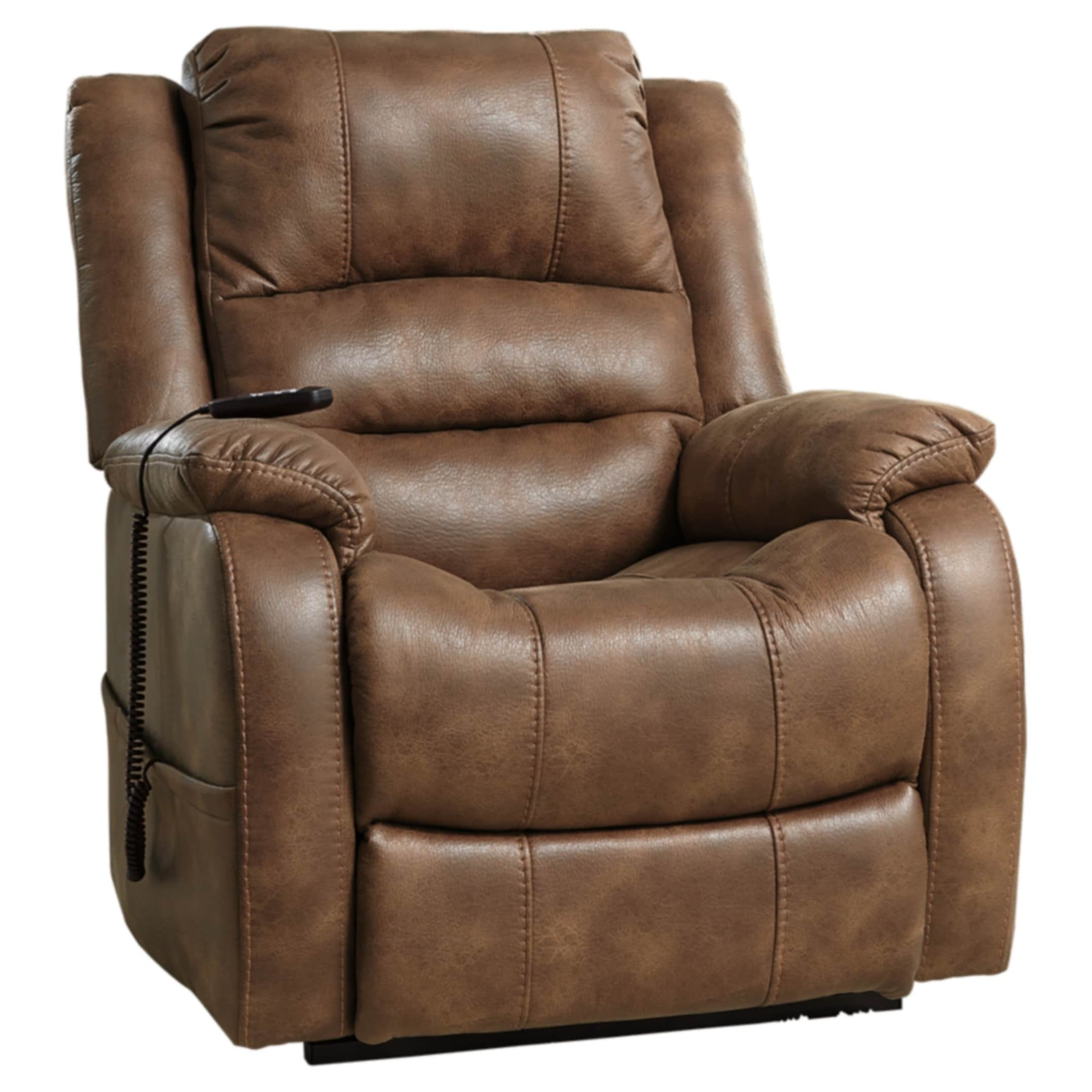 Signature-Design-by-Ashley-Yandel-Brown-Power-Lift-Recliner-Brown-Standard