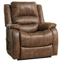 Signature Design by Ashley Yandel Brown Power Lift Recliner