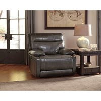 Signature Design by Ashley Palladum Grey Power Rocker Recliner