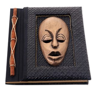 Handmade Natural Fibers Journal, 'Golden Guardian' (Indonesia)