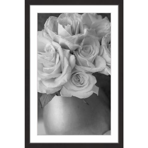 Marmont Hill - Handmade Country Bouquet in Gray Framed Print