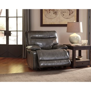 Signature Design by Ashley Palladum Grey Rocker Recliner  sc 1 st  Overstock.com : ashley leather recliners - islam-shia.org