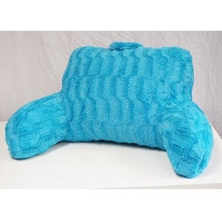 Aqua Wavy Plush Bedrest