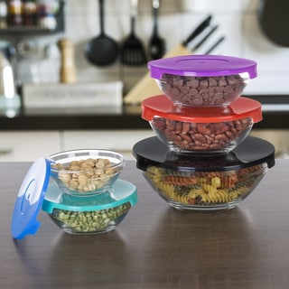 Chef Buddy Glass Bowl 10 Piece Set with Lids