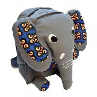 Handmade Kids Elephant Backpack - Imani Workshops (Kenya)