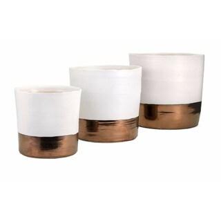 Harlow Ceramic Planters - Set of 3