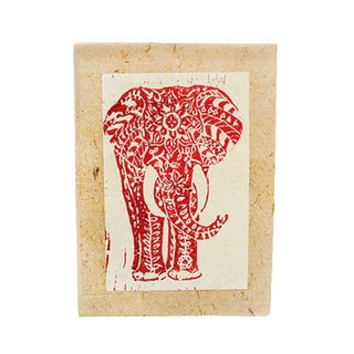Handmade Block Printed Elephant Journal - Imani Workshops (Kenya)