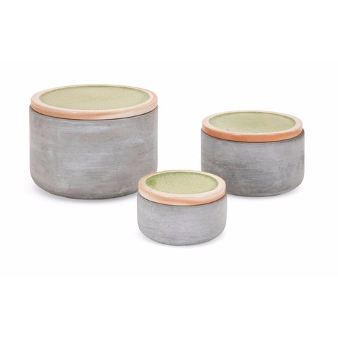 Molly Cement Lidded Boxes - Set of 3