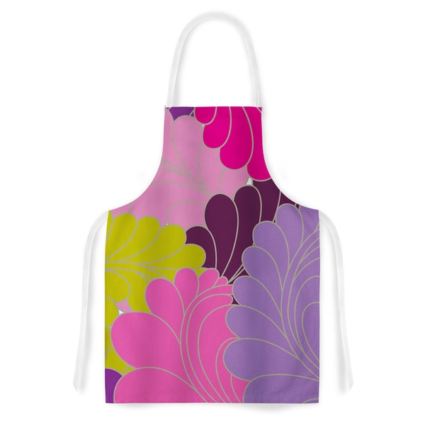 KESS InHouse Nicole Ketchum 'Moroccan Leaves' Artistic Apron
