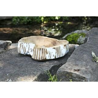 Lasker Carved Wood Decorative Bowl