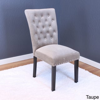 Markelo Tufted Velvet Dining Chairs (Set of 2) (Option: Taupe)