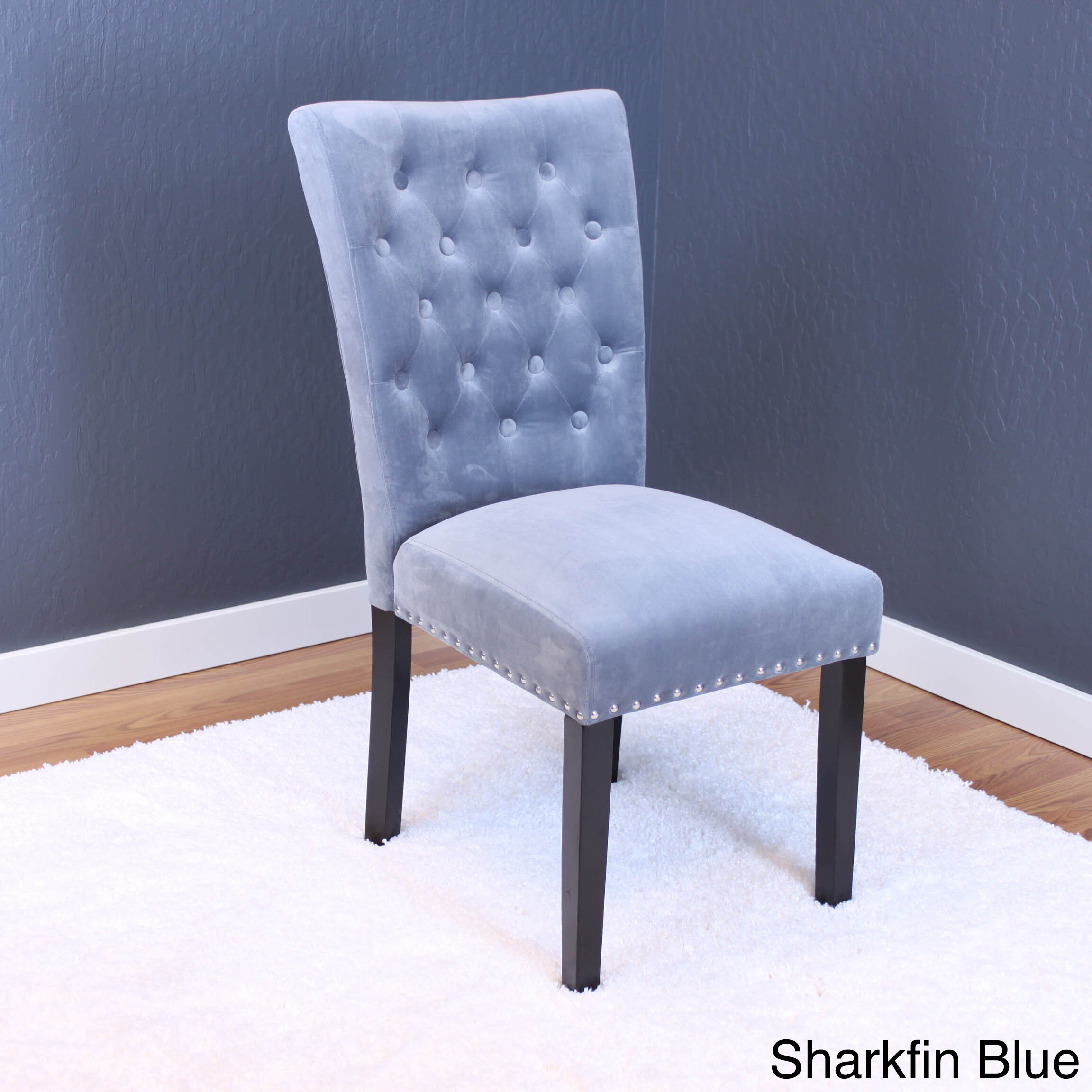 Velvet tufted dining chairs Chairs