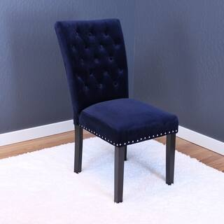 Markelo Tufted Velvet Dining Chairs (Set of 2) (Option: Taupe) https://ak1.ostkcdn.com/images/products/14578788/P21125797.jpg?impolicy=medium