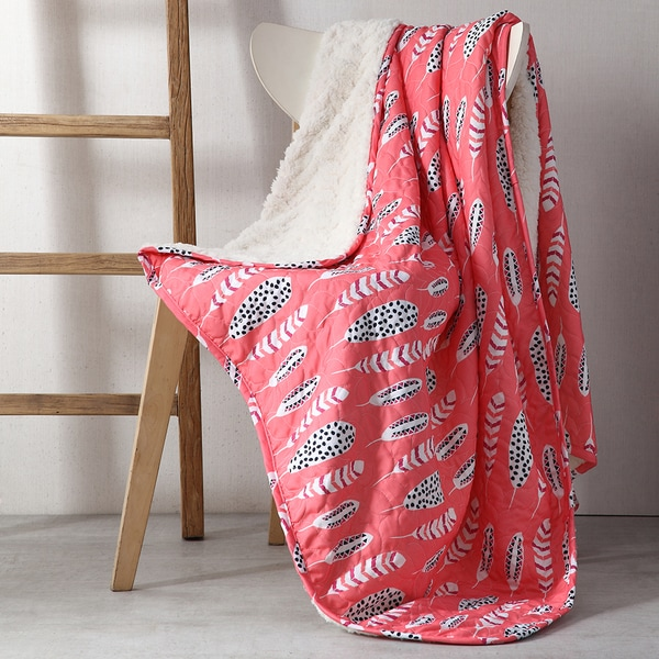 Clairebella Feathers Reversible Throw
