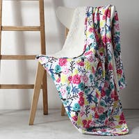 Clairebella Floral 50x70 Reversible Throw