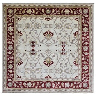 FineRugCollection Handmade Fine Pakistan Peshawar Burgundy Oriental Rug - 9'8 x 10'