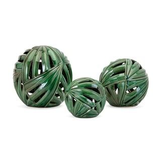Palmetto Wall or Deco Balls - Set of 3