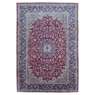 FineRugCollection Handmade Semi-antique Fine Persian Isfahan Oriental Rug (9'4 x 13'5)