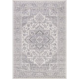 Lacey Collection Hailey Grey/Ivory Rug (5'3 x 7'3)