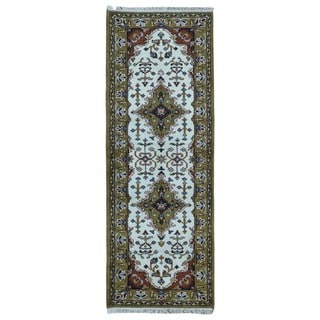 FineRugCollection Handmade Kashan Gold Wool Oriental Runner (2'5 x 6'7)