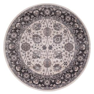 Lacey Collection Ivory/Grey Val Rug (5'3 Round)