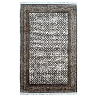 FineRugCollection Handmade Herati Olive Green Oriental Wool Rug (6'5 x 10')