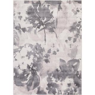 Lacey Collection Flower Haze Ivory Rug (6'7 x 9'3 )