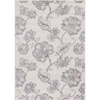 "Lacey Collection Haven Ivory/Grey Rug (7'10"" x 10'6"")"