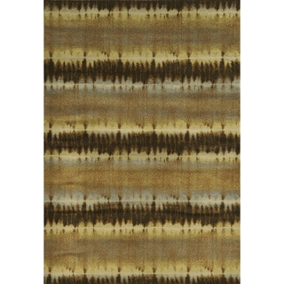 "Rizzy Home Sorrento Gold/Brown Round Area Rug (7'10 x 7'10) - 7'10"" x 7'10"""