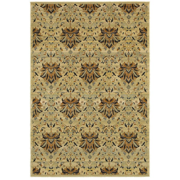 "Rizzy Home Sorrento Tan Round Area Rug - 7'10"" x 7'10"""