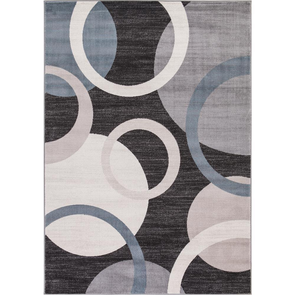 Concord Lacey Collection Cirque Grey Geometric Rug (7'10 ...