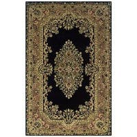 Rizzy Home Shine Black Wool Hand-tufted Round Area Rug (8' Round)