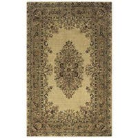 Rizzy Home Multicolor Wool Hand-tufted Round Area Rug - 8' x 8'