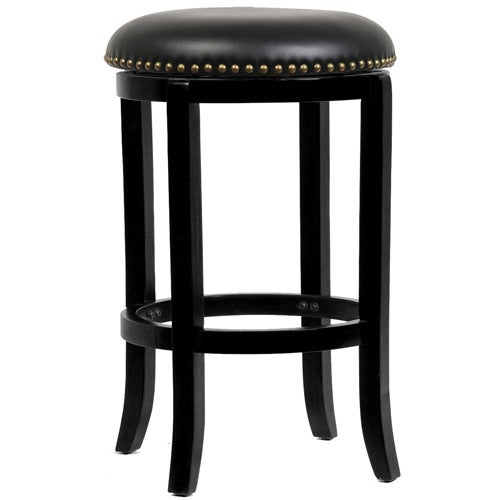 Shop Cordova Black Swivel Counter Height 24 Inch Bar Stool Free