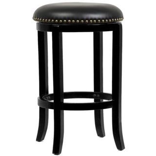 Cordova Black Swivel Counter Height 24-Inch Bar Stool