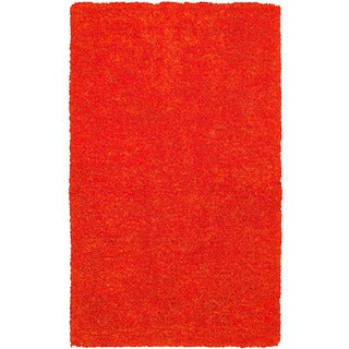Rizzy Home Hand-tufted Commons Orange Round Area Rug (3' Round)
