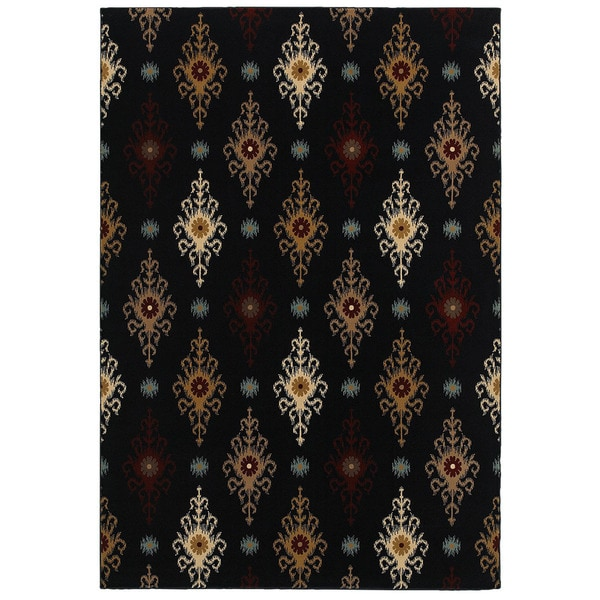 """Chateau Black Round Area Rug (7-feet x 10-inches Round) - 7'10"""" x 7'10"""""""