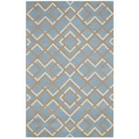 Bradberry Downs Blue Wool Hand-tufted Round Area Rug (8')