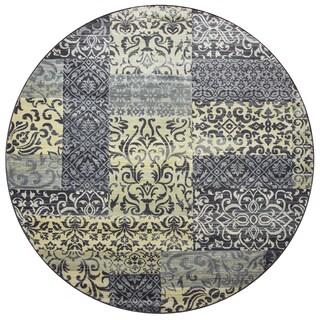 "Sorrento multi  patchwork Round Area Rug (7'10"" Round) - 7'10"" x 7'10"""