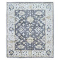 FineRugCollection Handmade Grey Oushak Oriental Wool Rug (8'3 x 10')