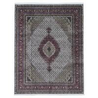 FineRugCollection Handmade Mahi Tabriz Wool Oriental Rug With Silk Flowers (7'8 x 10')