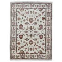 FineRugCollection Hand-knotted Tabriz Beige Oriental Wool Rug (7'2 x 9'10)